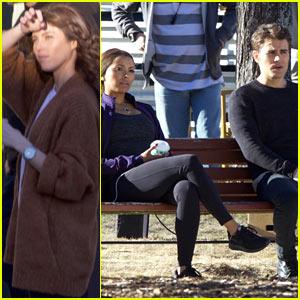 Kayla Ewell Joins Kat Graham & Paul Wesley on Set of 'The Vampire Diaries'!