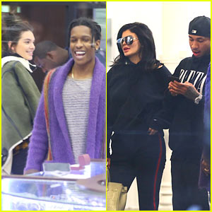 Kendall Jenner & A$AP Rocky Go Shopping with Kylie Jenner & Tyga!