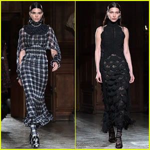 Kendall Jenner & Bella Hadid Go High Fashion for Givenchy Show