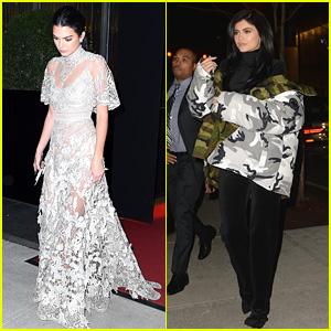 Kendall & Kylie Jenner Film Cameo for 'Ocean's Eight' Met Gala Scene!