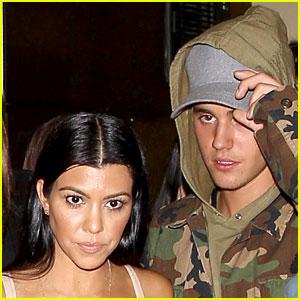 Justin Bieber Seen with Kourtney Kardashian Again in New Pics!