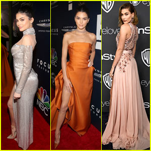 Kylie & Kendall Jenner and Hailey Baldwin Hit Up Golden Globes 2017 After Parties!