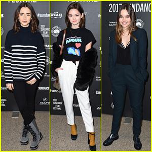Lily Collins, Ciara Bravo, & Liana Liberato Bundle Up at Snowy Sundance for 'To the Bone' Premiere!