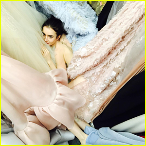 Lily Collins Is Drowning In Dresses For the Golden Globes