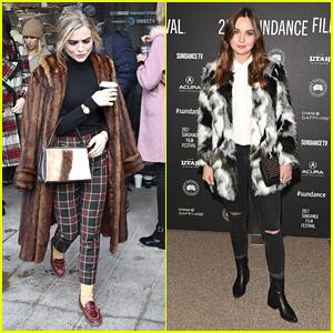 Maddie Hasson & Liana Liberato Are Winter Fashion Goals at Sundance