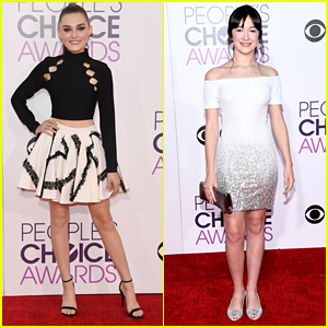 New TV Stars Meg Donnelly & Grace Kaufman Hit People's Choice Awards 2017