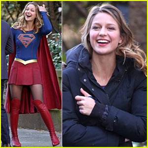 Melissa Benoist is All Smiles on the 'Supergirl' Set