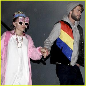 Miley Cyrus Rocks a Onesie for Liam Hemsworth's Birthday Party
