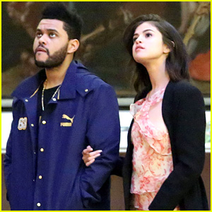 Selena Gomez & New Boyfriend The Weeknd Browse an Art Museum in Italy!