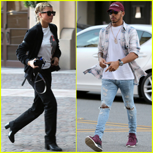 Sofia Richie Steps Out For Dinner With Lewis Hamilton