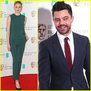 Sophie Turner & Dominic Cooper Crack Up at the BAFTA Nomination Ceremony