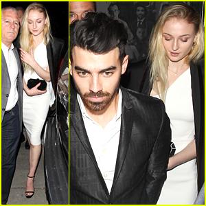 Sophie Turner & Boyfriend Joe Jonas Hit CAA's Golden Globes Party