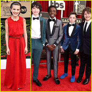 Millie Bobby Brown & 'Stranger Things' Cast Have a Blast at SAG Awards!