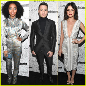 Yara Shahidi, Colton Haynes, & Lucy Hale Attend the 'EW' Pre-SAG Awards Party!