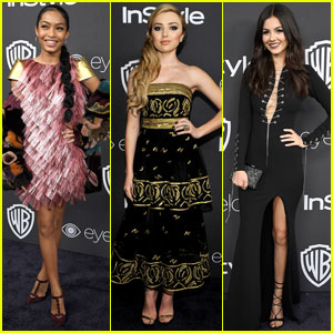 Yara Shahidi & Peyton List Get Dolled Up For Golden Globes 2017 After-Party!