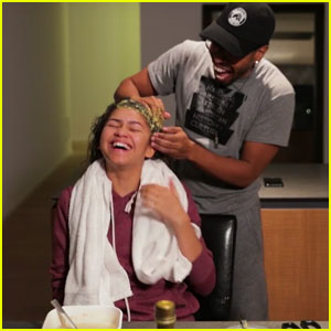 VIDEO: Zendaya Cracks Us Up With This New Hair Mask Tutorial!