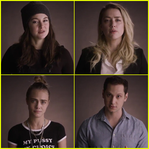 Shailene Woodley & Cara Delevingne Joke About Donald Trump Using the Wrong Constitution (Video)