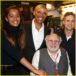 Malia Obama Watches a Broadway Show with Dad Barack!