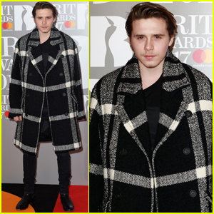 Brooklyn Beckham Steps Out at 2017 Brit Awards After Snowboarding Injury
