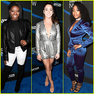 Simone Biles, Aly Raisman, & Normani Kordei Attend Taylor Swift's Super Saturday Night Show!