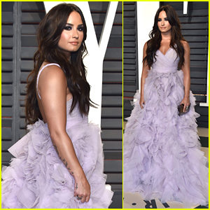Demi Lovato Wears Ruffles To Oscar Party & We're Obsessed!