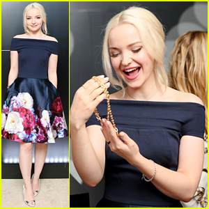 Dove Cameron Battles Through Sickness & Looks So Cute at Tiffany's Event!