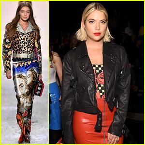 Ashley Benson Watches Gigi Hadid Walk in Jeremy Scott's NYFW Show!