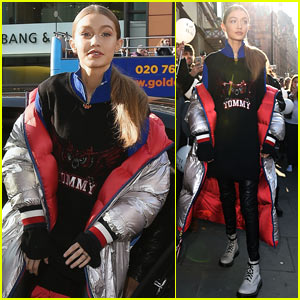 Gigi Hadid Wears Her 'Tommy X Gigi' Collection While in London!