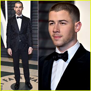 Nick Jonas Breaks it Down on Oscars Party Dance Floor, Demi Lovato Captures it! (Video)