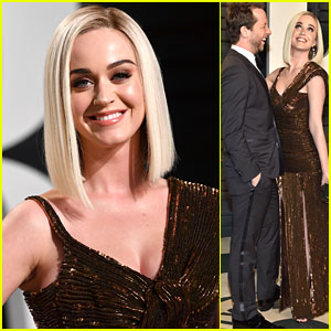 Katy Perry Goes Stag to the Vanity Fair Party, Kind of!