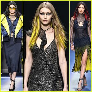 Kendall Jenner Hits the Versace Runway with Gigi & Bella Hadid