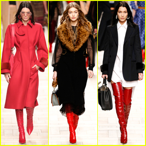 Gigi & Bella Hadid Model Fendi in Milan With Kendall Jenner