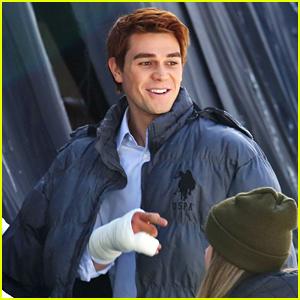 KJ Apa Sports Bandaged Hand While Filming 'Riverdale's Season Finale