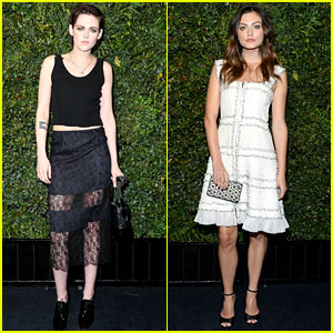 Kristen Stewart & Phoebe Tonkin Glam Up for Chanel's Pre-Oscar Event