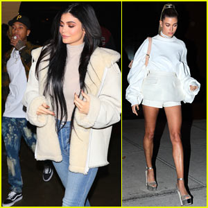 Kylie Jenner & Hailey Baldwin Show Off Their Style at the Yeezy Fashion Show