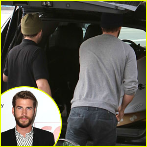 Liam Hemsworth Loads Up On Surf Boards With Buddies
