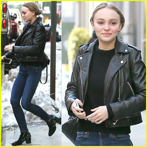 Lily-Rose Depp Gets Stylish in New York City