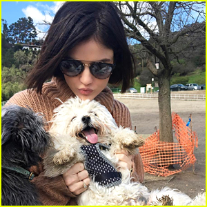 Lucy Hale Apologizes For Posting Too Many Pics of Her Dog Elvis