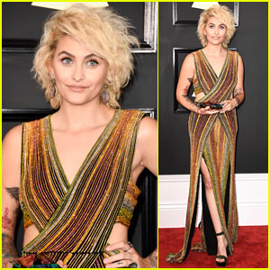 Paris Jackson Shows Off Her Tattoos at the Grammys 2017