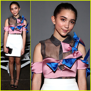 Rowan Blanchard Makes First Post-GMW Appearance at Milly Fashion Show