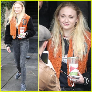 Sophie Turner Gets Her Caffeine Fix in Los Angeles