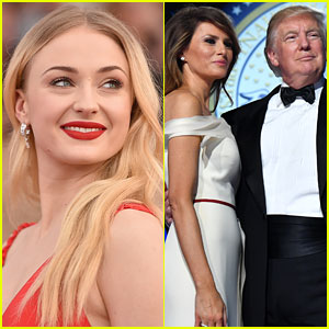 Sophie Turner Didn't Hold Back in Donald & Melania Trump Take Down on Twitter