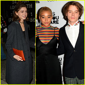 Charlie Heaton & Amandla Stenberg Are Joined By Natalia Dyer at 'As You Are' Premiere