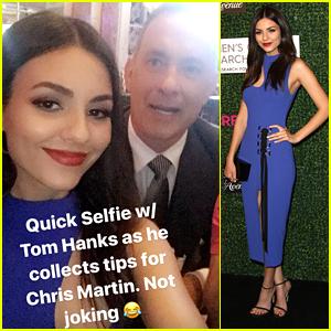 Victoria Justice Met Tom Hanks Last Night & We're Totally Jealous!