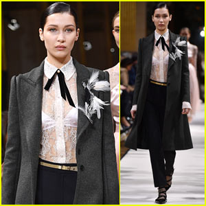 Bella Hadid Hits the 'Lanvin' Runway During Paris Fashion Week