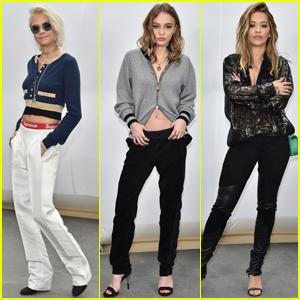 Cara Delevingne, Lily-Rose Depp & Rita Ora Get Up Close at 'Chanel' Show