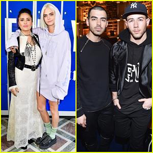 Cara Delevingne, Nick & Joe Jonas Step Out For Rihanna's 'Fenty x Puma' Paris Fashion Show!