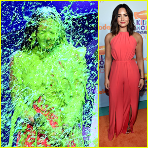 Demi Lovato Just Got Slimed at Kids Choice Awards 2017!