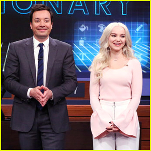 Watch Dove Cameron Play Virtual Reality Pictionary With Jimmy Fallon!