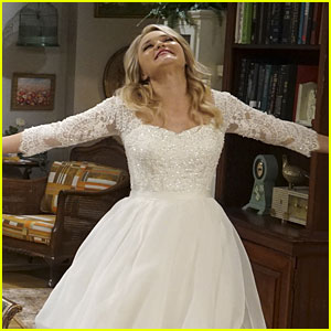 Emily Osment Is Back In THAT Wedding Dress For 'Young & Hungry'